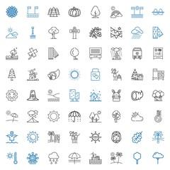 season icons set