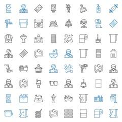 toilet icons set