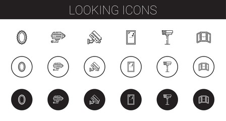 looking icons set