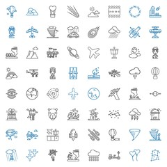 sky icons set