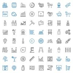 bar icons set
