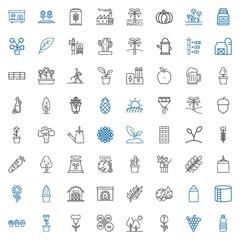 plant icons set