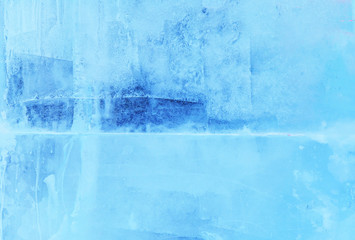 ice background close-up