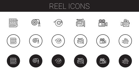 reel icons set