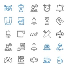 morning icons set
