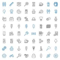 sugar icons set