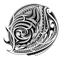 Maori style tattoo shape
