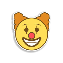 clown colored emoji sticker icon. Element of emoji for mobile concept and web apps illustration.