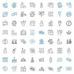 bubble icons set