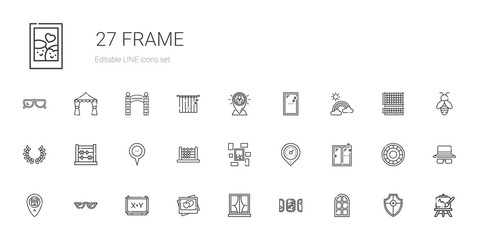 frame icons set