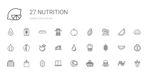 nutrition icons set