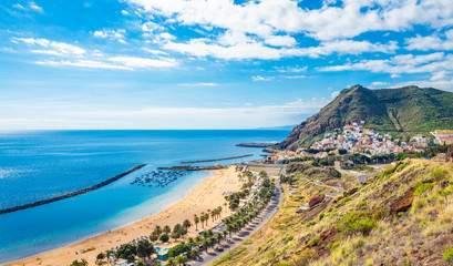 Wall Mural - Landscape with Las Teresitas beach and San Andres village, Tenerife, Canary Islands, Spain