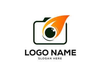 Photography Logo Design Concept, Camera Logo Designs Vector