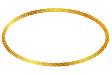 Vector Oval Frame from Golden rope for Your Element Design