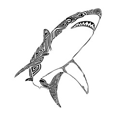 shark tribal vector art