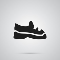 Isolated trainers icon symbol on clean background. Vector sneakers element in trendy style.