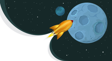 Rockets flying to the moon