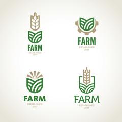 Farm vector logo. Agro emblem