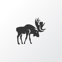 Moose icon symbol. Premium quality isolated deer element in trendy style.