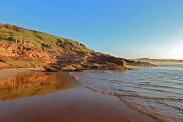 One mile beach north headland