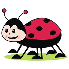 cute ladybug, vector icon