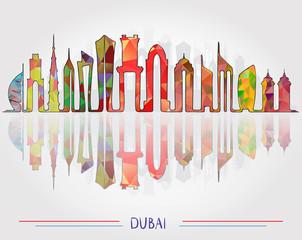 Dubai city Skyline background