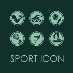 Vector sport fitness icon