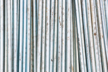 metal rods stored random creating texture and patterns