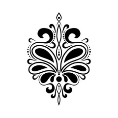beautiful luxury pattern with curls. Ornament for fabric and decoration. Template or stencil