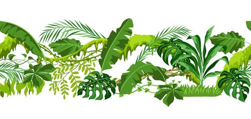 Seamless pattern with jungle plants.
