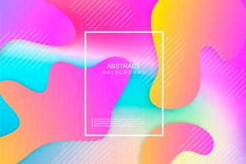 Creative line art. Cover vector banner template design, modern futuristic fluid geometric pattern. Eps10.