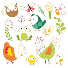 garden worksheet vector design