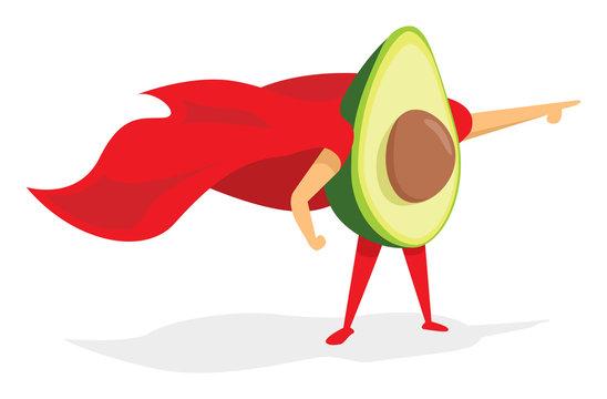 Super avocado hero wearing cape