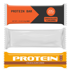 Set of different protein bars