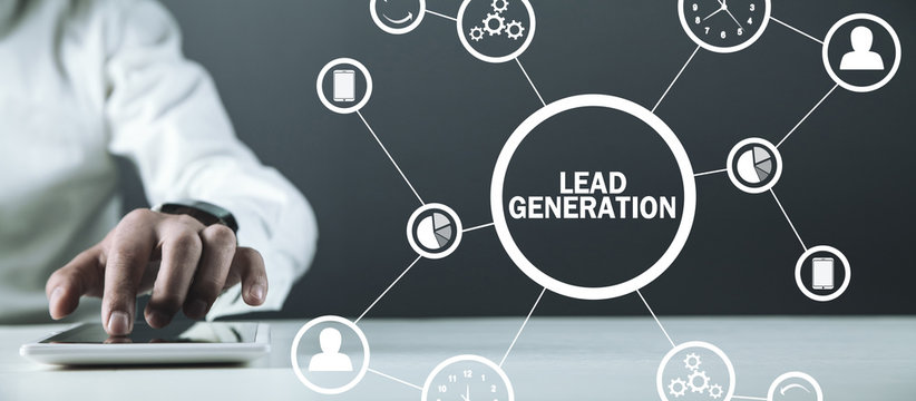 Lead Generation. Concept of business, network, technology, future