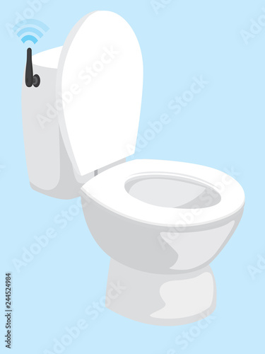 Smart toilet with wfi connection