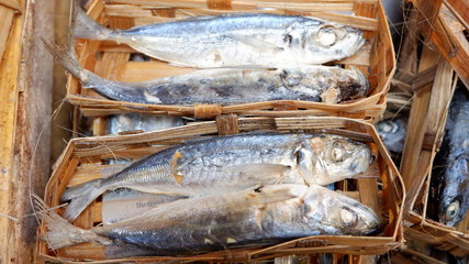 salted fish, ready to be cooked for side dishes
