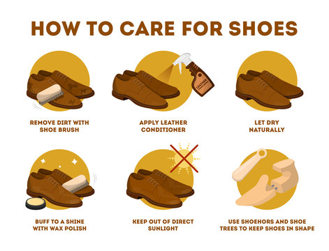 How to care for leather shoes instruction