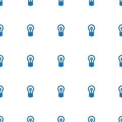 bulb icon pattern seamless white background