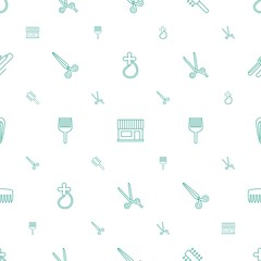 hairdressing icons pattern seamless white background