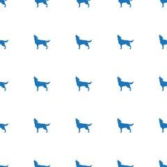 wolf icon pattern seamless white background