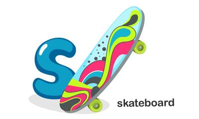S for Skateboard