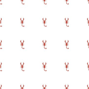 scorpion icon pattern seamless white background