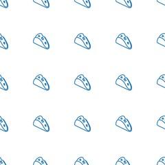 taco icon pattern seamless white background