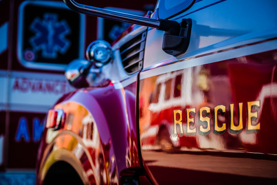 Fire Rescue Truck at Station