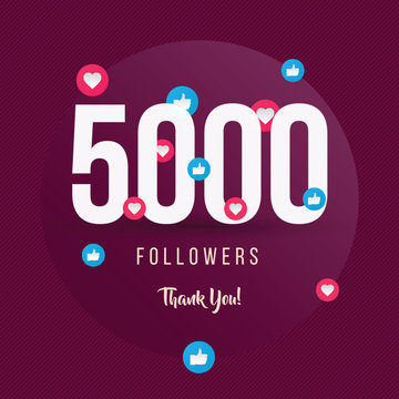 5000 Followers Thank You, post