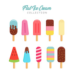 Flat Style Ice Cream Collection