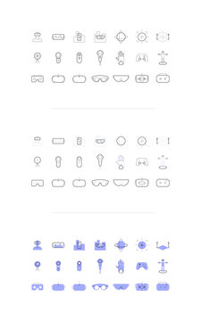 VR/AR Icons Pack