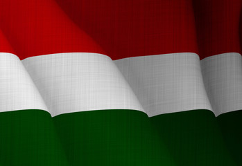 Illustration of a flying Hungarian flag