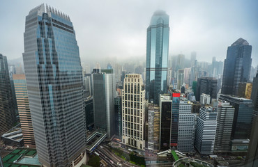 Fototapete - downtown of Hong Kong city